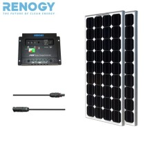 Eco Solar Panel Kit 200W Mono: 2 Pcs 100w Solar Panels+MC4 ADAPTOR KIT+PWM 30A Charge Controller