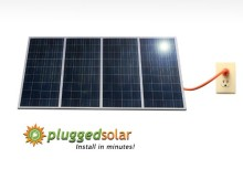 Plugged Solar, 1.2KW Solar Grid Tie system for Patio, DIY Ready to install in a day. UL and Utility approved Solar Panels and Grid Tie Inverter. Breakthough in Solar. 5-Years Full System and 25-Yr Panel Warranty.