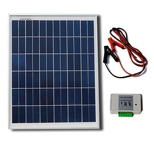 ECO-WORTHY-20W-12V-Solar-System-Kit-20-Watt-Polycrystalline-Solar-Panel-Battery-Clips-3A-Charge-Controller-0