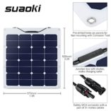 Suaoki-50W-18V-12V-Solar-Panel-Charger-SunPower-Cell-Ultra-Thin-Flexible-with-MC4-Connector-Charging-for-RV-Boat-Cabin-Tent-CarCompatibility-with-18V-and-Below-Devices-0-0