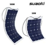 Suaoki-50W-18V-12V-Solar-Panel-Charger-SunPower-Cell-Ultra-Thin-Flexible-with-MC4-Connector-Charging-for-RV-Boat-Cabin-Tent-CarCompatibility-with-18V-and-Below-Devices-0-6