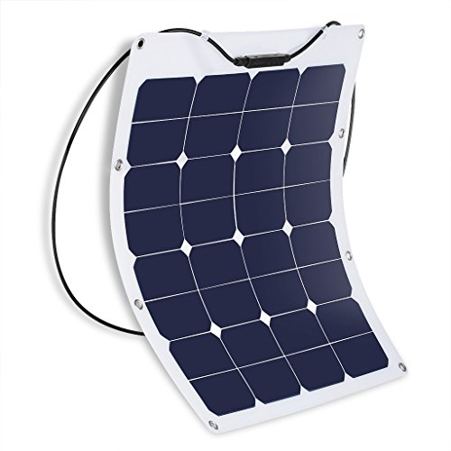 Suaoki-50W-18V-12V-Solar-Panel-Charger-SunPower-Cell-Ultra-Thin-Flexible-with-MC4-Connector-Charging-for-RV-Boat-Cabin-Tent-CarCompatibility-with-18V-and-Below-Devices-0